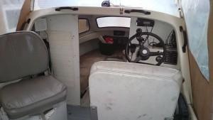 Båden med den gamle styrepult
